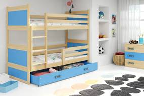 Poschodová posteľ RICO 2 - 160x80 - Borovica - Blankytný