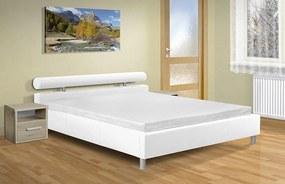 Moderné dvojlôžko Doroty 180x200 cm s úložným priestorom Barva: eko bílá