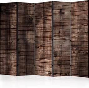 Paraván - Dark Brown Boards [Room Dividers] 225x172