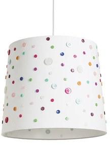 RENDL R12389 DELISA tienidlo na lampu, univerzálne tienidlá biela gombíky