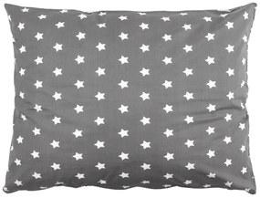 4home Obliečka na vankúš Stars sivá, 70 x 80 cm