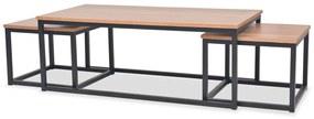 vidaXL Konferenčný stolík, 3 kusy, popoľová farba