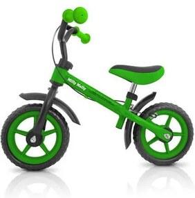 Dětské odrážedlo kolo Milly Mally Dragon s brzdou green