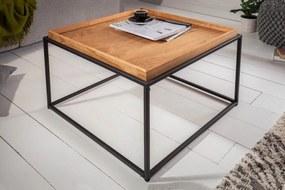Dizajnový konferenčný stolík s táckou Factor 60 cm dub
