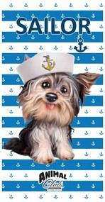 HALANTEX Osuška Animal Club Pes námorník Bavlna - froté 70x140 cm