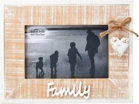 Drevený fotorámik - Family