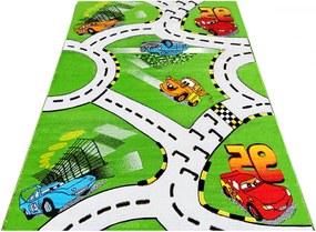 Detský kusový koberec Cestičky zelený 2, Velikosti 200x300cm