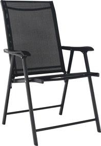 Skladacia zahradná stolička, čierna, Adola