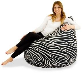 Sedací vak BAG Sako Design Zebra - L