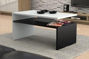 Mazzoni PRIMA - konferenčný stolík, čiernobiely, obdĺžnikový, lamino