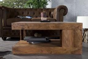Konferenčný stolík Giant XL z masívneho dreva Sheesham 90x60cm