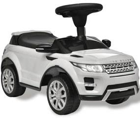 vidaXL Detské pojazdné auto s rádiom, biele Land Rover 348
