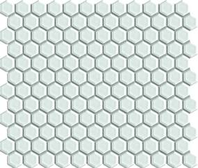 Keramická mozaika Premium Mosaic bílá 26x30 cm lesk MOS26WH