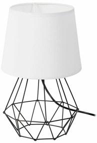 DekorStyle Stolní lampa DIAMENT 2v1- černá/bílá
