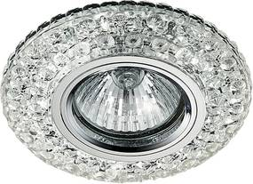 Krištáľové svietidlo EMITHOR DOWNLIGHT CHROME/CLEAR 71095