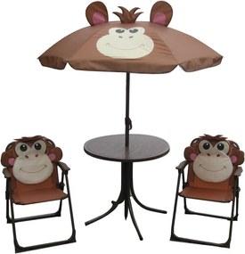 Set kempingový MONKEY-slnečník, stolček, 2 kresielka