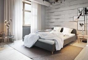 Čalúnená posteľ LOFT, 140x200, itaka 14 + penový matrac 14cm
