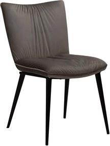 Sivá jedálenská stolička so zamatovým povrchom DAN-FORM Denmark Join
