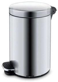 Kovové odpadkové koše Basic, objem 12 l, Kapacita: 12 L, Materiál: matné antikoro, Farba: Sivá/striebro, Výška: 400 mm, Hmotnosť: 1.68 kg, O: 250 mm,