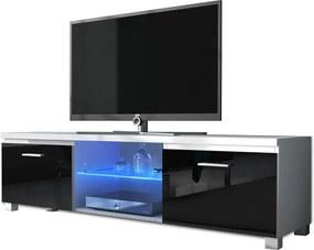 TEMPO KONDELA Lugo 2 tv stolík biela / čierna
