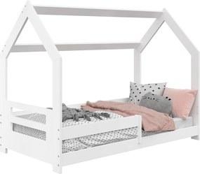 AMI nábytok Detská posteľ DOMČEK D5B 80x160cm masív biela