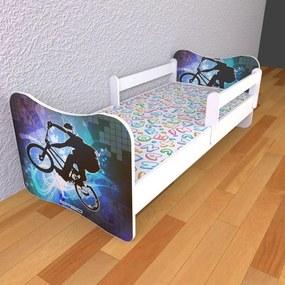 Detská posteľ 160cm x 80cm BMX S matracom Bez zásuvky 2ks odnímateľnej zábranky