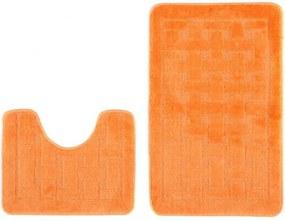 Kúpeľňové predložky 1039 oranžové 2Ks, Velikosti 50x80cm