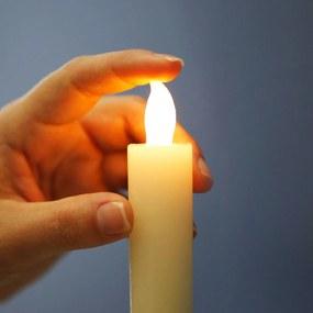 LED skutočné voskové sviece, sada 3 kusov