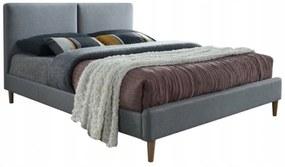 SI Manželská posteľ Niger 200x160 - sivá