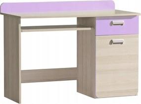 DL Písací stôl LUCAS L10 - fialový/zelený Farba: Fialová