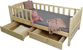 FA Detská posteľ so zábranou Oľga 2 - prírodná Rozmer lôžka: 200x90