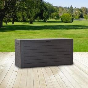Záhradný box na podušky - hnedá