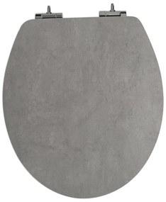 Duschwell WC doska v mramorovom / betónovom vzhľade (betón / antracitová), betón / šedá (100292556)