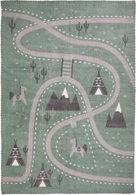 Detský ručne potlačený koberec Nattiot Little Western, 100 × 140 cm