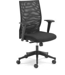 Kancelárska stolička Milton, so sieťovinou čierna