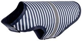 Pršiplášť pre psa (XS, pruhy / navy modrá / biela), viacfarebná / modrá / biela, XS (100317952)