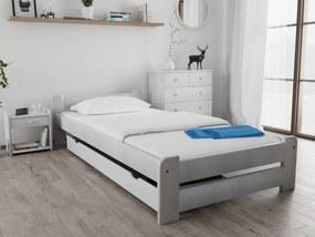 Maxi Drew Posteľ Emily 90 x 200 cm, biela Rošt: s latkovým roštom, Matrac: s matracom Economy 10 cm