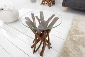 Bighome - Príručný stolík WOODY  40 cm - hnedá