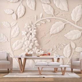 Fototapeta - Paper Flowers (Beige) 200x140 + zadarmo lepidlo