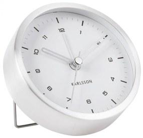 Karlsson Dizajnový budík Tinge Silver