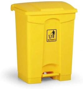 Pedálový viacúčelový kôš 68 litrov, žltý