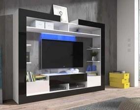 Sek - obývacia stena (biela/čierna/biela
