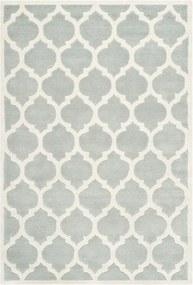Sivý vlnený koberec Camilla Grey, 121 × 182 cm
