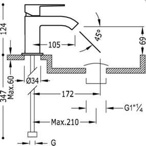 CUADRO - TRES Umývadlová jednopáková batéria s perlátorom (106103)