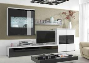 ArtElb Obývacia stena Flash I glossyblack/white