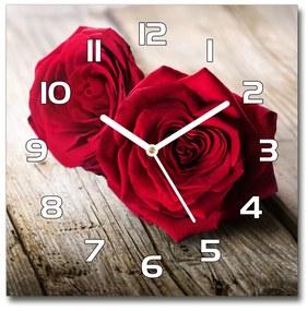 Sklenené hodiny štvorec Ruže na strome pl_zsk_30x30_f_99658852