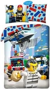 HALANTEX Obliečky Lego Polícia Bavlna, 140/200, 70/90 cm