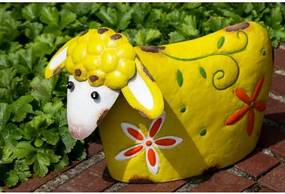 Bighome - Záhradná dekorácia LOTTE - žltá