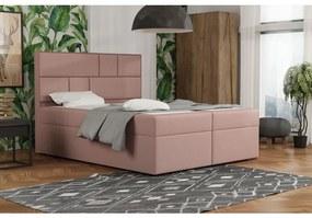 Dizajnová posteľ s úložným priestorom 160x200 MELINDA - ružová 1