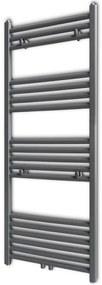 vidaXL Šedý rebríkový radiátor na centrálne vykurovanie, rovný 500 x 1160 mm